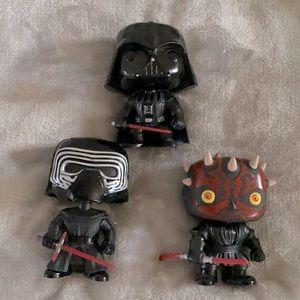 3 Star Wars Funko Pop Vinyl Figures